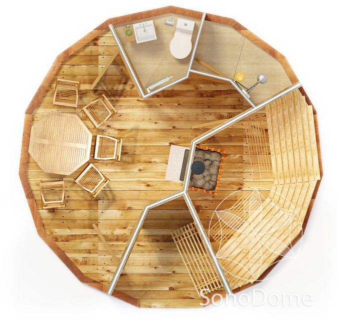 Dome Home Building Kits: Dome Sauna